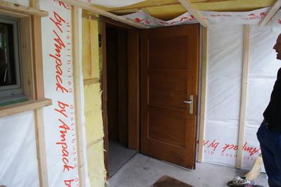 Die neue Türe wird dann etwas kleiner