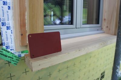 Farbmuster für die Fensterläden